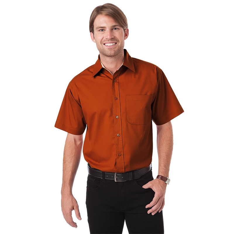 FeatherLite Mens Bottom Hem Cuffs Twill Shirt