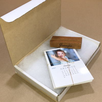 Wooden Base Desk Calendar